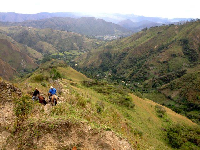 44 steiler Abstieg