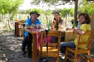 Mittagessen im Weinberg