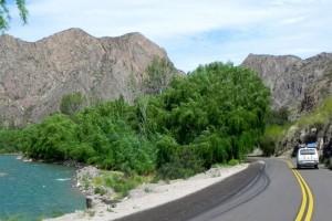 Einfahrt zum Autel-Canyon
