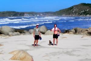 mit Sergio am Strand