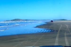 der Beach entlang