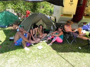 kolumbianisches Camping...