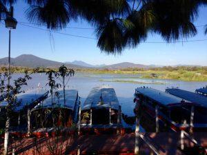 Patzcuaro See mit Schilfgürtel