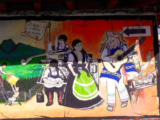 Wandmalerei Paracho