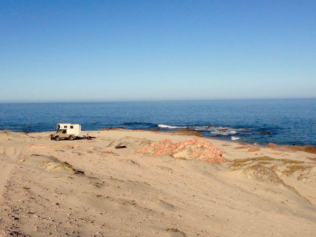 einsames Beachcamp