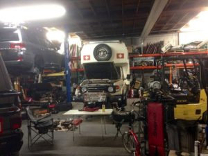 Garagen-Camping